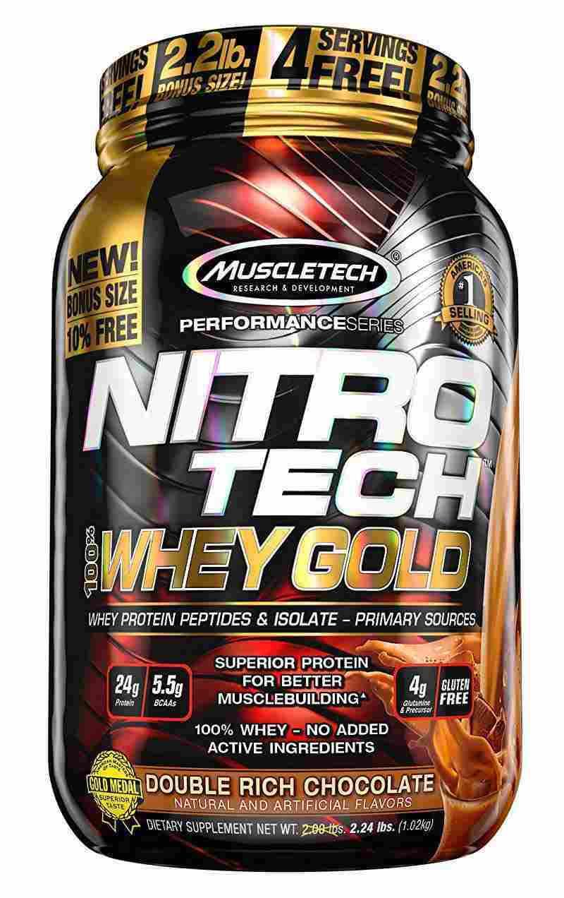 proteine muscletech nitro tech 100% whey gold 1.02 KG Formula 100% proteina din zer microfiltrata la rece.